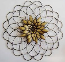 simple colorful metal flower wall art