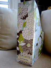 Pretty Magazine Holders Gorgeous Pretty Scrapbook Paper Covered Magazine File Tutorial The
