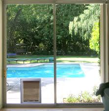 sliding glass doors with pet doors