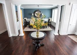 chic round foyer table in dining room transitional with small round foyer table next to round foyer alongside white painted woodwork and small foyer