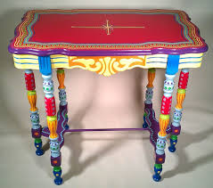 blogspot multi colored painted table bright painted furniture
