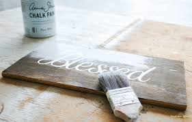 you can use any kind of chalk paint to make this wooden sign