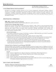 Service Manager Resume Enterprise Management Trainee Program