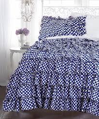 navy blue white dot duvet