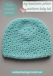 Crochet Newborn Hat Pattern Interesting My Handsome Prince Newborn Baby Hat Pattern Baby Creations