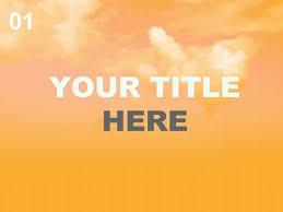 Orange Sky Powerpoint Template