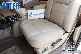 2001 ford f 350 lariat perforated leather seat cover driver side complete set tan