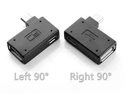 microusb otg adapter with microusb external power supply horizontal 90