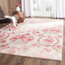 safavieh monaco ivory pink 5 ft x 8 ft area rug