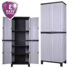 plastic outdoor storage cabinet. Tall Outdoor Plastic Storage Utility Cabinet Garden Shed Tool Store Patio  From Plastic Outdoor Storage Cabinet