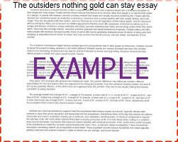 the outsiders nothing gold can stay essay research paper academic  the outsiders nothing gold can stay essay