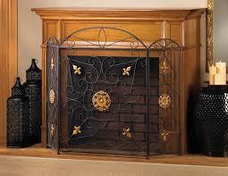 decoration wrought iron fireplace screens