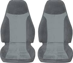 1993 96 camaro with solid rear seat light dark charcoal encore velour upholstery set
