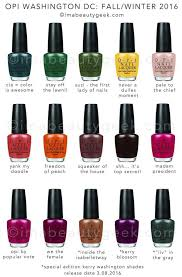 Opi Gel Color Chart 2016 Opi Kerry Washington F W 2016 Our Apologies In 2019 Opi