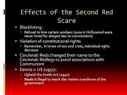 apush review the second red scare ppt video online  effects of the second red scare