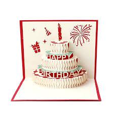 3d Stereoscopic Greeting Card Handmade Gift Decoupage Birthday Cake