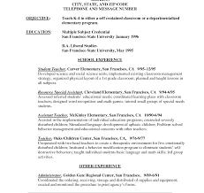 Resume For Fresher Teacher Job Resume Template Sample Teaching Examples Of Excellent Teacher 23
