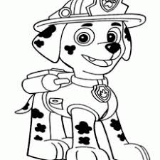 Awesome Design Marshall Paw Patrol Coloring Page Paw Pages Free To