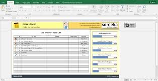 Todo List In Excel Family To Do List