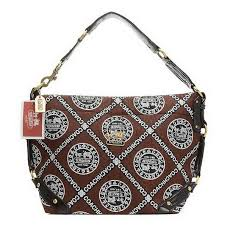 Coach Fashion Logo Large Coffee Shoulder Bags EHX