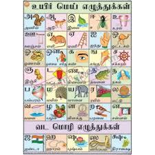 Tamil Alphabet Chart 70x100cm