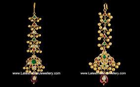 Gold Nethichutti Designs With Price Designer Antique Maang Tikka Designs Jewelry Design Tikka