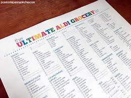 Grocery Store Product List The Ultimate Aldi Grocery List Passionate Penny Pincher