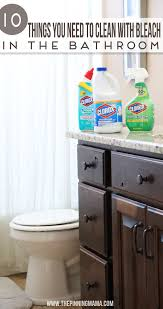 10 things you should be cleaning with bleach in the bathroom