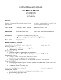 Education Section Of Resumes Resume Education Section Of Sample Examples Current Formats For