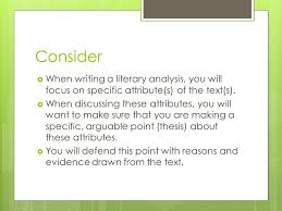 critical literary essay how and why critical literary essays  consider  when writing a literary analysis you will focus on specific attribute s