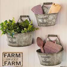 com rustic wall buckets galvanized wall planter farmhouse bathroom decor country decor farmhouse sign galvanized decor baby