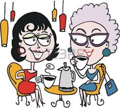 Bildergebnis für Frauen am kaffeetisch clipart