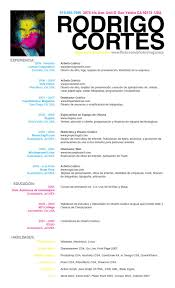 Resume Template In Spanish Extraordinary Resume Template In Spanish Radiotodorocktk