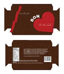 Chocolate Boxes Template Bon Candy Box Template By
