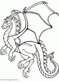 Small Picture Printable Flying Dragon Coloring Page Fantasy Coloring Pages