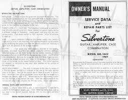 silvertone world division 57 schematics manuals and publications