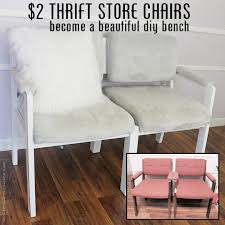 diy bench from two chairs. $2 thrift store chairs to gorgeous diy bench seat diy from two