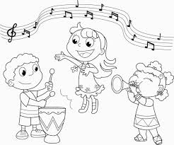 Music Coloring Pages Free Printable Coloring Home For Coloring Pages