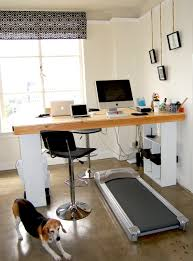 diy standing treadmill desk