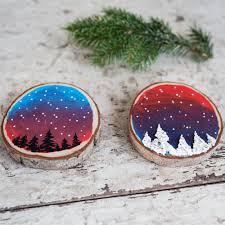 Weihnachtsdeko Selber Basteln Inspiration Für Astscheiben