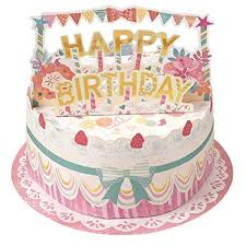 Amazoncom Yummy Happy Birthday Cake Pop Up Greeting Card Office