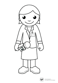 Coloring Pages Of Community Helpers Baker Coloring Page Doctor ...