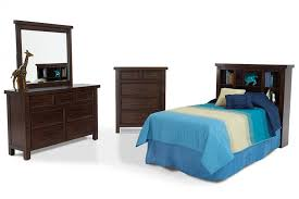 Hudson Youth 4 Piece Twin Bookcase Bedroom Set