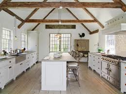 Wonderful White Country Kitchen With Gable Ceiling N For Decorating Ideas