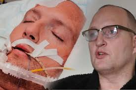 Colin Brown pictured in hospital and now. Earlier this week The Gazette reported how fewer than half of claims for new disabled and sick benefit had been ... - colin-brown