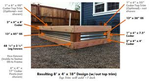 Small Picture Contemporary Galvanized Raised Garden Bed 25 Beds Ideas On