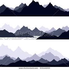 pin Drawn mountain stencil #4