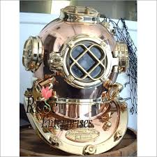 Small Picture Nautical brass and copper Home Decor diving helmet Nautical