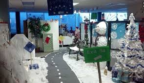 christmas office decoration. christmas cubicle decorations winter wonderland office decoration v