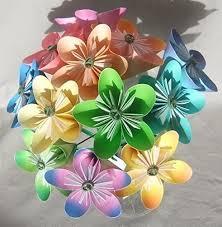 Paper Origami Flower Bouquet Amazon Com Pastel Origami Flower Bouquet Handmade